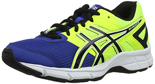 ASICS Unisex-Kinder Gel-Galaxy 8 GS Outdoor Fitnessschuhe, Blau Blue Black Flash Yellow 4290, 39.5 EU