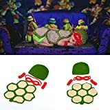 Osye Baby Crochet Knitted Outfit Turtle Costume Set Photography Photo Props (Red)