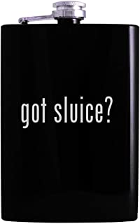 got sluice? - 8oz Hip Alcohol Drinking Flask, Black