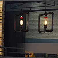 BGHDIDDDDD シャンデリアライトランプシャンデリア工業用シャンデリアロフトレストランバーバーアイアンアメリカンレトロアイル照明階段パイプシャンデリア
