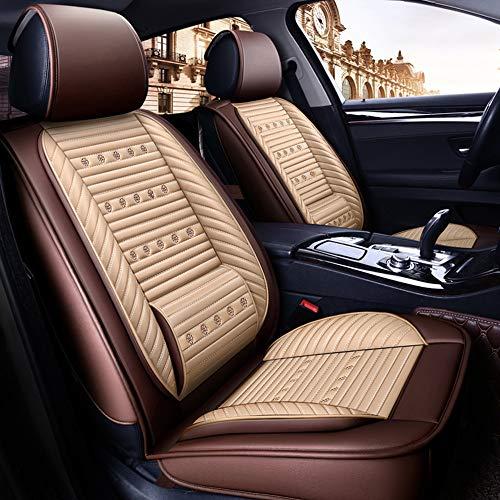 LXDER Universele 5-zitshoes, vierseizoenen zitkussen, compatibel met airbags, comfortabel en gepersonaliseerde kussens, geschikt voor de meeste auto's