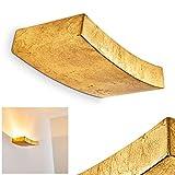 Aplique de cerámica alargado Bochum dorado - apliques para dormitorios - pasillo - salón