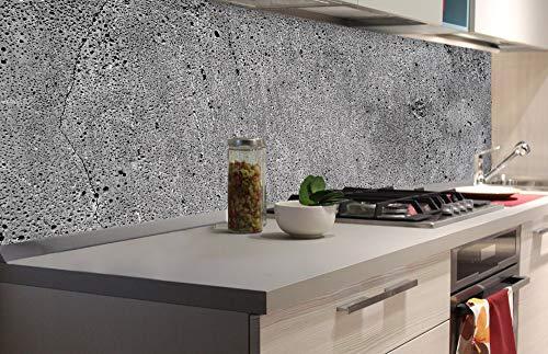 DIMEX LINE Küchenrückwand Folie selbstklebend Beton | Klebefolie - Dekofolie - Spritzschutz für Küche | Premium QUALITÄT - Made in EU | 180 cm x 60 cm