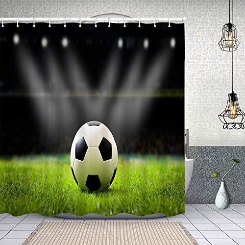 Dfform Cortina Baño,Balón de fútbol en el Estadio de...