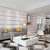Pegatina de pared,Estereoscópico Papel Tapiz 3D Dormitorio Sala Papel Pintado Moderno Raya Horizontal Fondos de Pantalla,Utilice la pared de fondo de TV de la sala de estar del dormitorio familiar