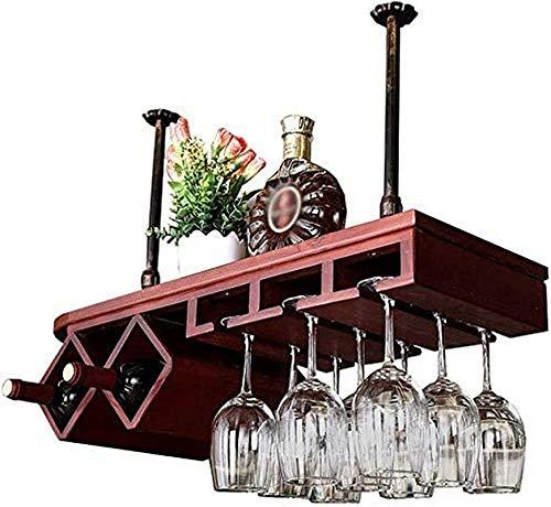 Estantería de vino Amantes del vino / Bar Vintage Copa de vino Estante colgante de vino, Cafetería de restaurante Organización de cocina y almacenamiento Estante de almacenamiento, estanterías de vino