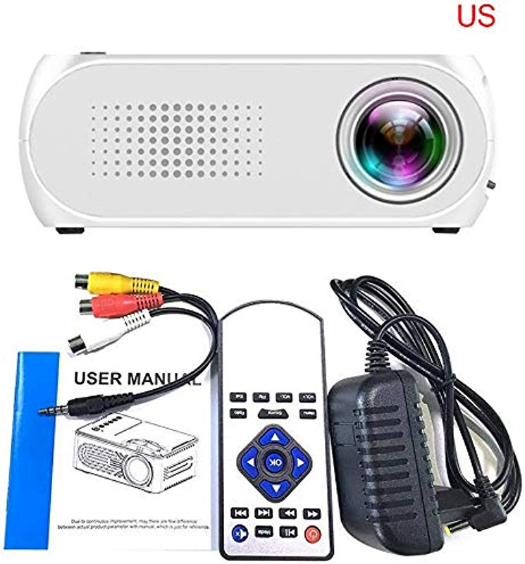 KUNAW Mini Projector Video Projector 2019 Upgraded 1080P Supported With 1000 Lumens LED Portable Projector