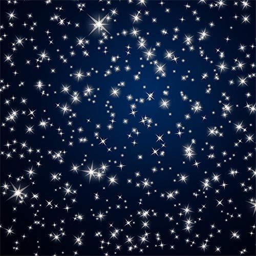 AdaCrazy 10x10ft Fotografía Estrellada Fondo Estrellas Fondo Abstracto Cielo Nocturno Estrellas Estrellado Brillante Twinkles Fondo Azul Oscuro Bebé Photo Studio Atrezzo Fiesta cumpleaños Festival