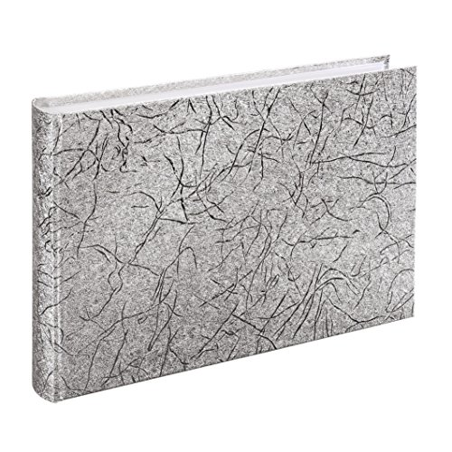 Hama 2in1 Gästebuch und Fotoalbum Caracas (30x20 cm, 60 Seiten) silber