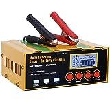 Aibeau Ladegerät Autobatterie 12A 12V/24V KFZ Batterieladegerät Vollautomatisches Intelligentes Erhaltungsladegerät Geeignet für Lithiumbatterien, AGM/Blei-Säure-Batterien