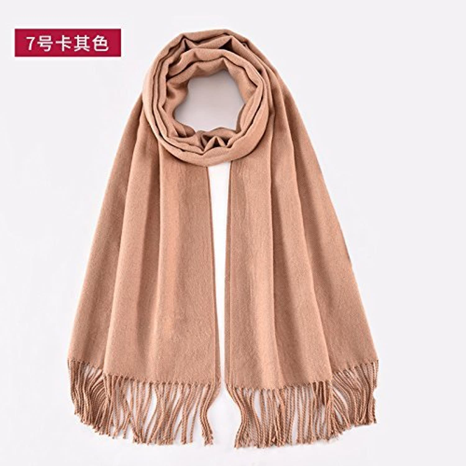 SED ScarfPure Warm Winter Winter Scarf AllMatch Female Students Knitted Shawl Imitation Cashmere Scarf Female Autumn and Winter Korean Students Knitted Shawl Long