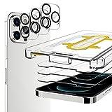 EGV Compatibile con iPhone 12 PRO Max 6.7 Pollice Pellicola Protettiva,3 Pack Vetro Temperato e 3 Pack Pellicola Fotocamera Nero
