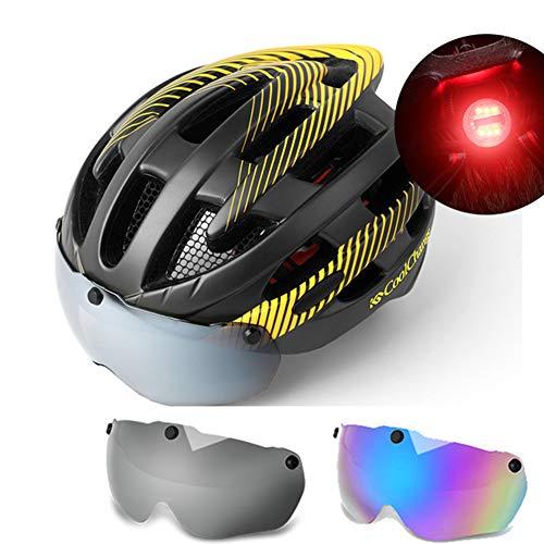 luz Trasera Inteligente del Casco con Protector de d/ía//Noche autom/ático IPX4 Scooter de monta/ña Urben Life Casco de Bicicleta con luz Intermitente