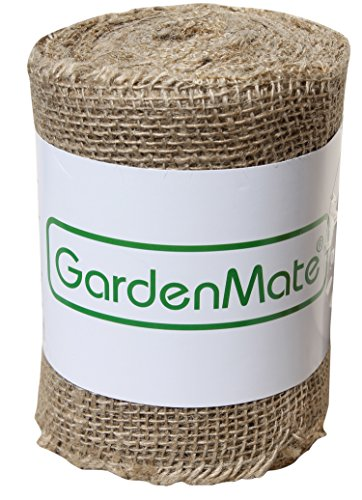 GardenMate Hessian Jute Burlap Ribbon for Plant Protection - 25m x 15cm 200gsm