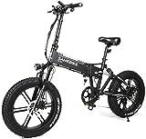 Bicicletas Eléctricas, XWXL09 bicicleta eléctrica for hombres y mujeres, de aleación de aluminio 500W Ebike con 48V de la batería de litio 10.4AH interfaz USB, suspensión completa Bicicleta plegable f