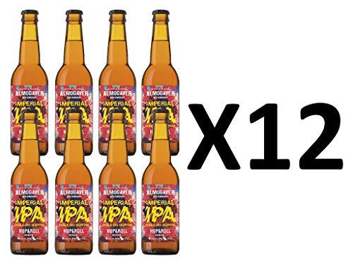 Cerveza Artesana Almogaver Imperial IPA, Pack de 12 botellas