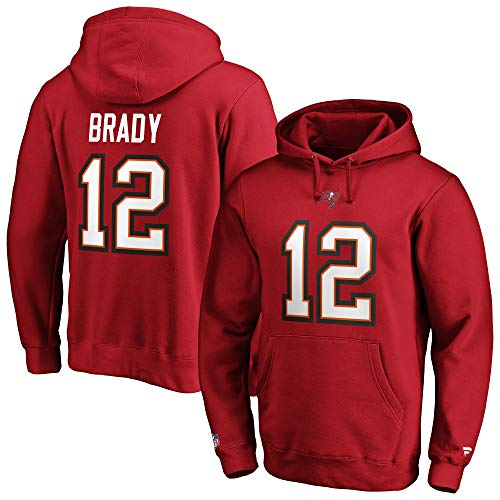 Fanatics Tom Brady #12 Tampa bay Buccaneers Iconic Name And Number Graphic Hoody - M