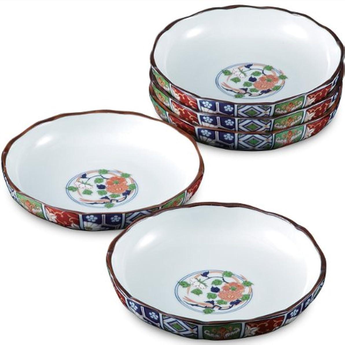 進捗苦情文句偏差ランチャン(Ranchant) 和皿セット マルチ Φ15.5x3.4cm 古伊万里菊割 有田焼 日本製