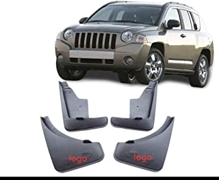 4pcs Color : Black Set Voiture Boue Rabats for Jeep Compass 2011 2012 2013 2014 2015 2016 Garde-Boue Garde Splash Fenders Accessoires Auto