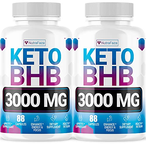 Keto Diet Pills (2 Pack ) - Utilize Fat for Energy with Ketosis - Advanced Keto Burn Diet Pills - Exogenous Ketones BHB Supplement for Women and Men - Boost Energy and Metabolism - 176 Vegan Capsules