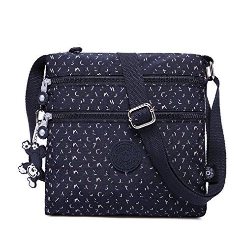 Foino Schultertasche Design Umhängetasche Damen Seitentasche Mode Kuriertasche Lässige Taschen Reisetasche Sporttasche Leicht Büchertasche für Mädchen