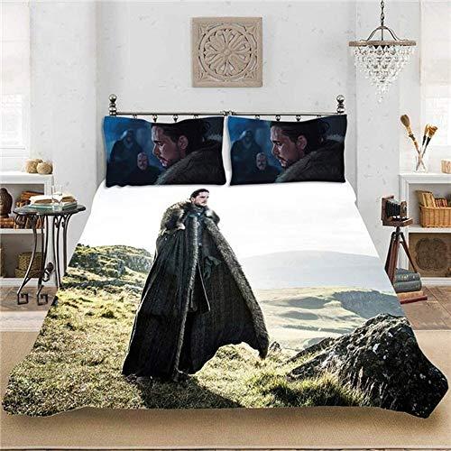 XWXBB Game of Thrones beddengoedsets, Game of Thrones dekbedovertrekset, kinderbeddengoed, gemakkelijk in te slapen, geschikt voor alle seizoenen (Game of Thrones-2,260 x 230 cm)