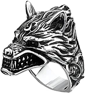 Ring for men on a form wolf Size 10