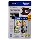 Brother LC-75BK High-Yield Ink - Black - 2 pk.
