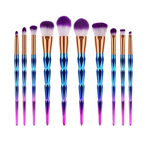 SDHF Maquillage professionnel Brosses cristal pinceaux de maquillage Blending Brosse brosse cosmétiques (Couleur : 10Pcs, Size : One Size)
