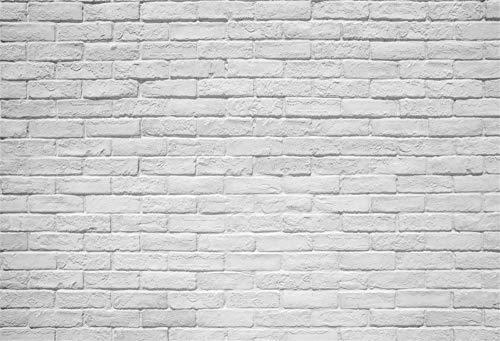 Leowefowa 2,2x1,5m Vinilo Telon de Fondo Resumen Vintage Lavado Retro Vacío Textura Pared De Ladrillo Blanco Fondos para Fotografia Party Photo Studio Props Photo Booth