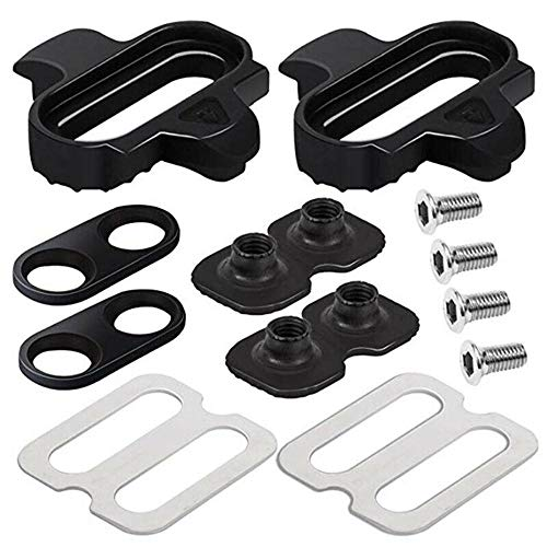 ZoeDul Black Pedal Cleat Set for MTB Mountain Bike Bicycle Cycling Shoes Accessories