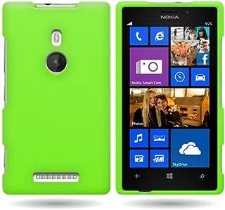 Nokia Lumia 925 Case, CoverON [Snap Fit Series] Hard Rubberized Slim Protective Phone Cover Case for Nokia Lumia 925 - Neon Green
