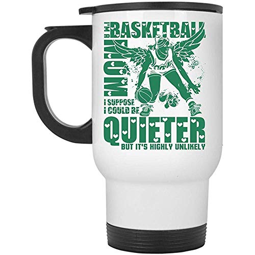 Zudrold Geschenk für Basketball Mom Travel Mug, ich bin ein Basketball Mom Mug (Travel Mug - weiß)