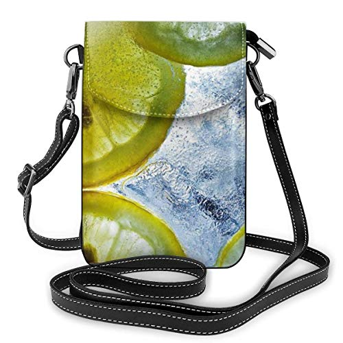 PageHar Erfrischende Limonade Kleine Umhängetasche Lässige Handtaschen Telefon Geldbörse Schulter Geldbörse