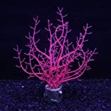 Danmu 1pc of Glowing Effect Artificial Coral, Aquarium Coral Decor, Coral Ornaments, Plant Ornaments for Fish Tank Aquarium Decoration 6 1/3' x 1 1/10' x 4 7/10'