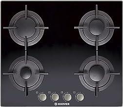 بوتاجاز مسطح بلت إن 4 شعلة غاز 60 × 60 سم من هوفر - اسود، HGV64SMCB