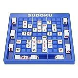 Fydun Tablero de Juego de números Sudoku con Ranuras de Almacenamiento, 81 números, Juego de Mesa de 25,2 * 24 cm para Adultos, niños Mayores de 2 años