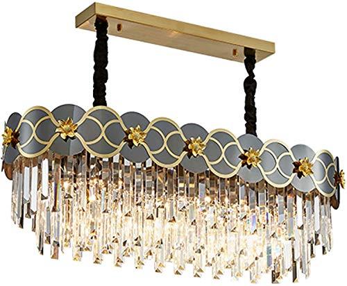 SHSM 3 Terceras Lámparas de Araña de Cristal de Lujo, Luz de Iluminación en Forma Moderna E14 Led Led Comedor Lugar Lugar de Lugar de Cristal de Cristal para Comedor Luz de Lujo Luz
