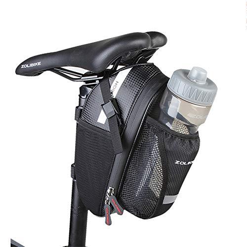 WJJ 3L wasserdichte Fahrradsatteltasche, Faltbare Sitztasche mit großer Kapazität, reflektierendem Klebeband und Logo-genähtem, hochfestem Nylonmaterial