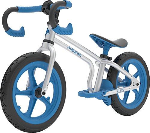 Chillafish Fixie, 12 Zoll lauffahrad im Rennrad Look mit Fussbremse und pannenfreien Reifen, verstellbarer Lenker und Sitz, für 2 bis 5 Jahren, Blau