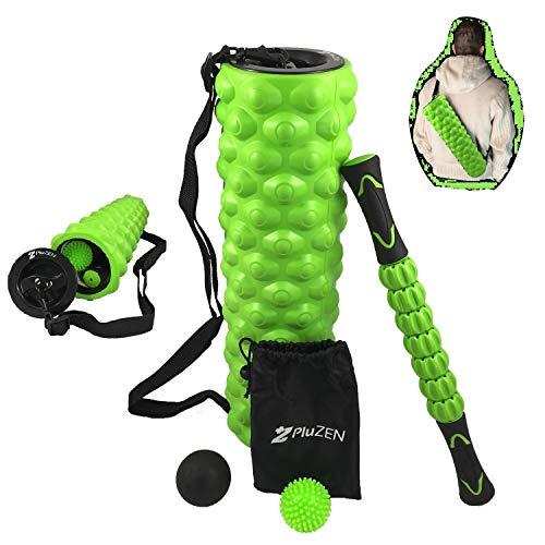 Kit di massaggio 4in1  45cm rullo di schiuma, bastone da massaggio, sfera Lacrosse, palla a riccio  Per il rilascio miofascial, un massaggio profondo dei tessuti e per la terapia del punto di innesco