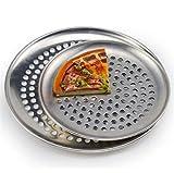 Poêles à Pizza en Acier Inoxydable avec des Trous Plateau de Cuisson de Pizza Rond...