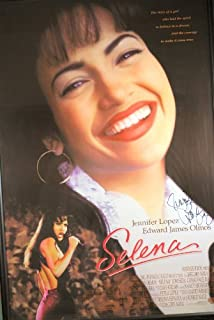 1997 - Selena - Original One sheet Movie Poster - Signed by Jennifer Lopez - Black Wood Frame - Measures 41x28.5 - See Description - Very Rare - Collectible
