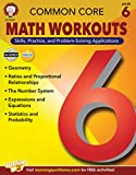 Mark Twain Common Core Math Workouts Resource Book, Grade 6, Ages 11 - 12, 64 Pages