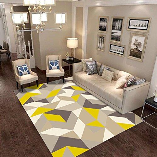 Yxx Max Tapijt, zone-tapijt, rechthoekig, woonkamertapijt, sofa, tafel, nachtkastje, strak – modern