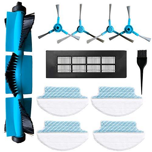 Zealing Kit de Accesorios de Limpieza para Robots aspiradores Conga 3090 Excellence: 4 cepillos Laterales,1 Cepillo Central,1 Filtro HEPA,1 Cepillo de Limpieza,4 Paño de Repuesto Mojado