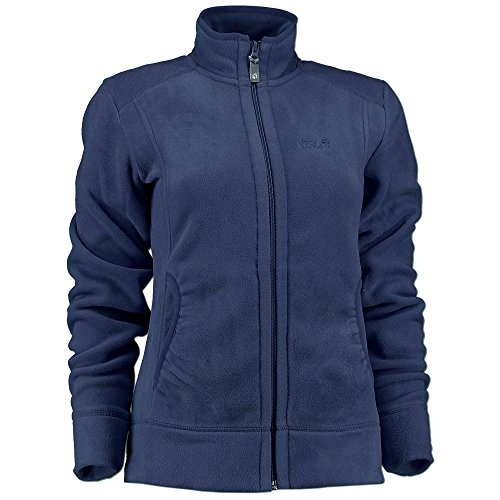Jack Wolfskin Damen Fleece Jacke Moon Track 150er Polartec Classic (M, midnight blue)