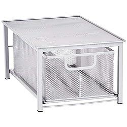 professional Organizer shelf for drawers with mesh Amazon Basics, Silver