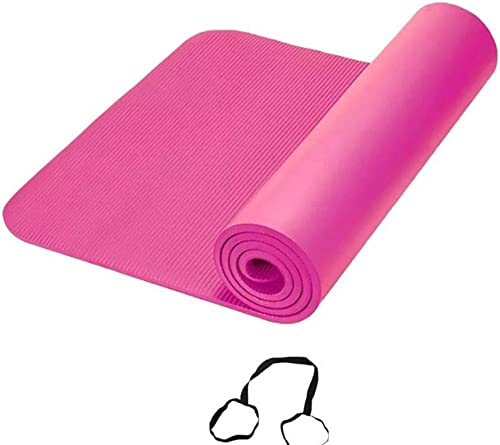 DLJFU - Tapis Yoga Tapis De Yoga Anti Slip Sport Fitness Exercise Pilates Gym Colchonete pour Les Débutants avec Tapis De Gym Sac De Yoga (Couleur   A)