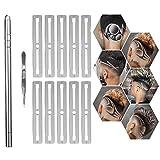 Stylo de Sculpture de Cheveux, DIY Stylo Rasoir Multifonctionnel en Acier Inoxydable Pour La Coupe des Cheveux, Les Sourcils, Les Outils de Coiffure de Salon